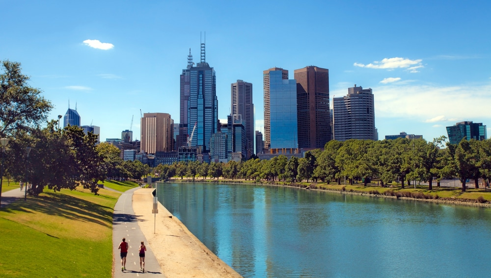 Sunny day in Melbourne