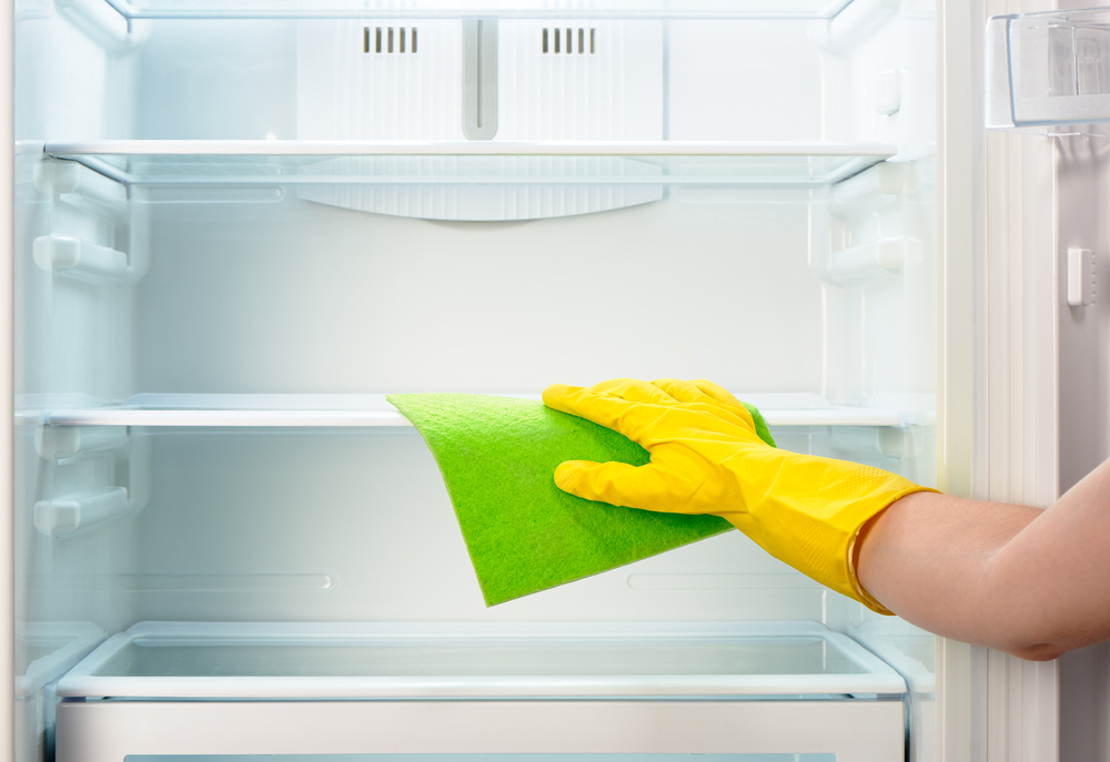 Cleaning fridge for storage