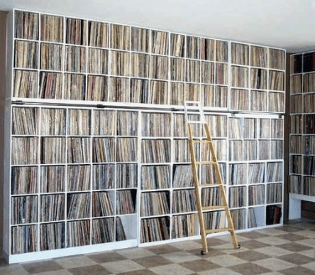Wall storage for vinyl records