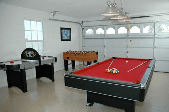 Garage party room ideas - game room