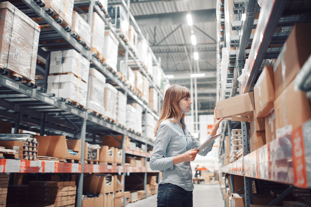 Commercial storage in warehouse
