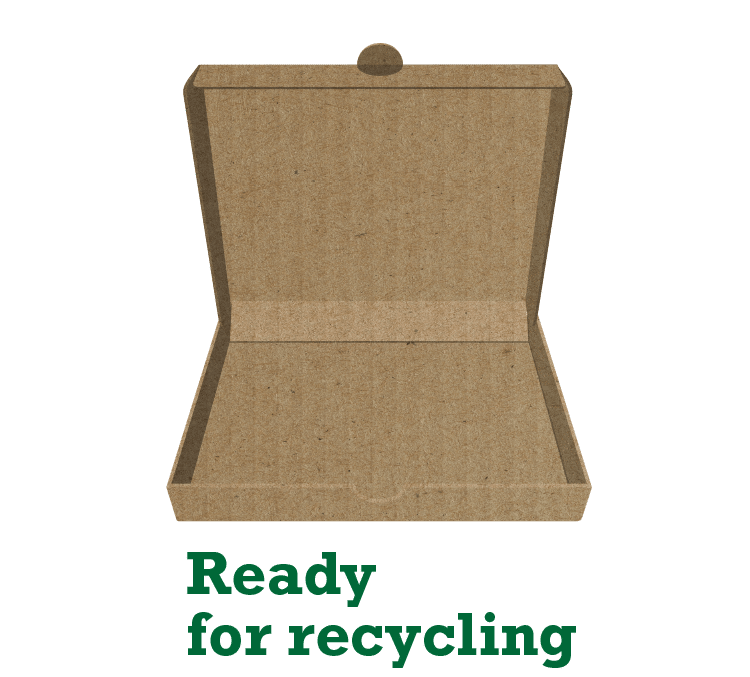 How to recycle pizza box